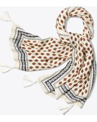Tory Burch - Double Diamond Oblong Scarf - Lyst