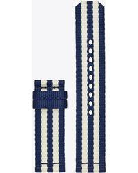 Tory Burch - Gigi Touchscreen Smartwatch Strap, Grosgrain, 20 Mm - Lyst