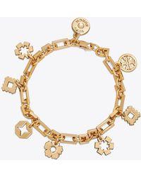 Tory Burch - Geo Charm Bracelet - Lyst