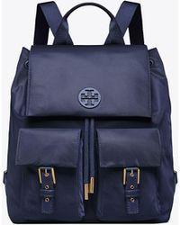 8b482be0be5 Tory Burch - Tilda Nylon Flap Backpack - Lyst