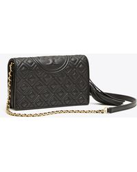 Tory Burch Fleming Leather Wallet Crossbody