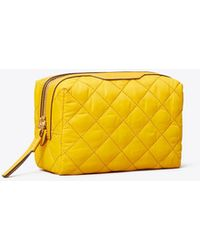Tory Burch - Perry Quilted Nylon Small Cosmetic Case - Lyst
