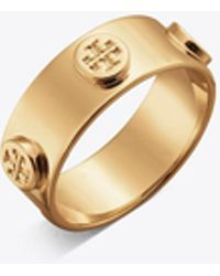 Tory Burch - Logo Stud Ring - Lyst