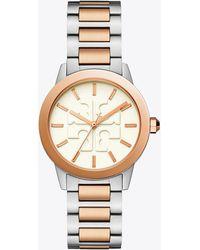 Tory Burch - Gigi Watch, Two-tone/cream, 36 X 42 Mm - Lyst