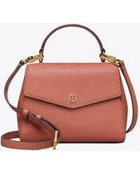 Tory Burch - Robinson Small Top-handle Satchel In Tramonto Calfskin - Lyst