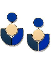 Tory Burch - Art Deco Statement Earring - Lyst