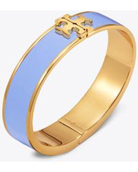 Tory Burch - Enamelled Raised-logo Hinged Bracelet - Lyst