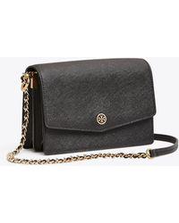 a9295e91b88f Tory Burch - Robinson Convertible Shoulder Bag (royal Navy black) Shoulder  Handbags -