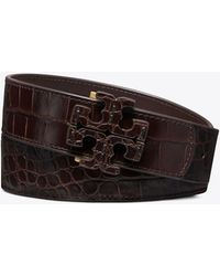 Tory Burch - Embossed Stacked T-logo Belt - Lyst