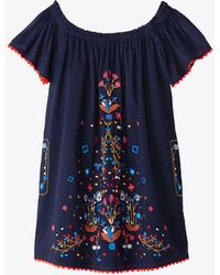 Tory Burch - Wildflower Embroidered Beach Dress - Lyst
