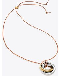 Tory Burch - Knot Pendant Necklace - Lyst