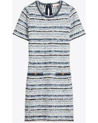 Tory Burch - Short - Sleeve Tweed Shift Dress - Lyst