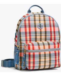 Tory Burch - Tilda Plaid Nylon Zip Backpack - Lyst