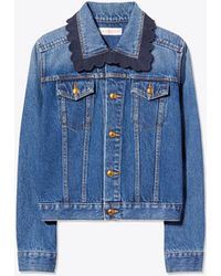 Tory Burch - Embroidered Denim Jacket - Lyst