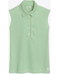 Tory Sport - Performance Sleeveless Ruffle Polo | 481 | Sport Polos - Lyst