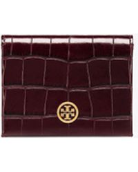 Tory Burch - Parker Embossed Foldable Card Case - Lyst