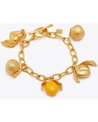Tory Burch - Lemon Charm Bracelet - Lyst