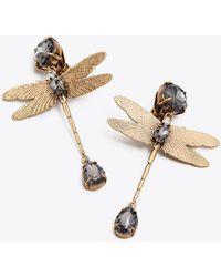 Tory Burch - Dragonfly Stone Earring - Lyst