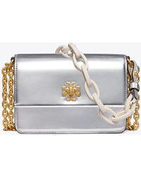 Tory Burch - Kira Metallic Double-strap Mini Bag - Lyst