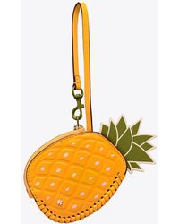 Tory Burch - Pineapple Coin Pouch Key Ring - Lyst