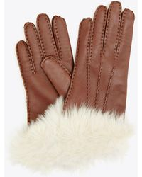 Tory Burch - Shearling Gloves   200   Gloves - Lyst