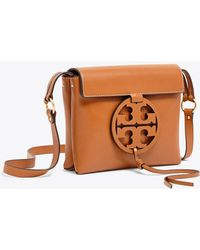 57bfd7ac5204 Tory Burch - Miller Leather Crossbody - Lyst