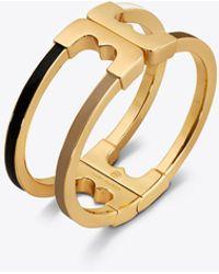 Tory Burch - Gemini Link Multi Enamelled Bracelet - Lyst