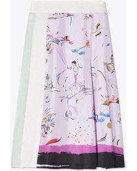 Tory Burch - Painted-border Skirt - Lyst