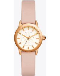 Tory Burch - Gigi Watch, Blush Leather/rose Gold-tone, 28mm - Lyst