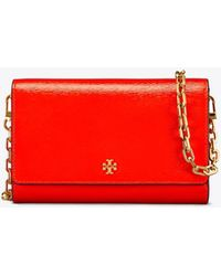 Tory Burch - Robinson Patent Chain Wallet - Lyst