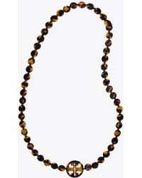 Tory Burch - Resin Logo Necklace | 217 | Necklaces - Lyst