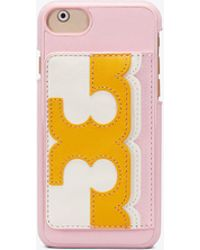 Tory Burch - Scallop-t Pocket Case Iphone 8 - Lyst