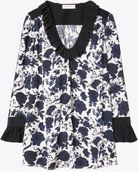 Tory Burch - Happy Times Ruffle Blouse - Lyst