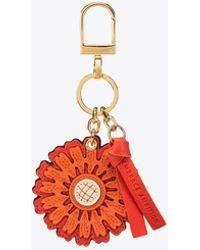 Tory Burch - Foundation Sunflower Key Fob | 405 | Key Fobs - Lyst
