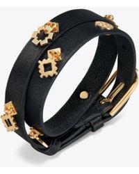 Tory Burch - Double-wrap Geo Charm Bracelet - Lyst