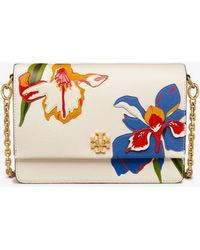 Tory Burch - Kira Floral Double-strap Shoulder Bag - Lyst
