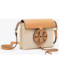 Tory Burch - Miller Canvas Crossbody (natural) Cross Body Handbags - Lyst