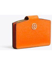 77d28de00fad Lyst - Tory Burch Robinson Medium Flap Wallet in Gray