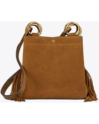 3bfccbac4c4b6 Lyst - Tory Burch Thea Leather Fringe Tote in Brown