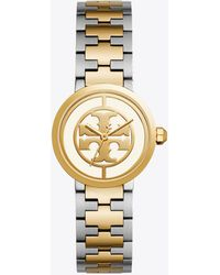 Tory Burch - Reva Watch, Two-tone Rose Gold/stainless Steel, Ivory, 28 Mm - Lyst