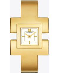 Tory Burch - T-bangle Gold Cuff - Lyst