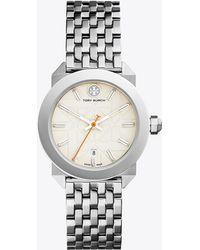 Tory Burch - Whitney Watch, Stainless Steel/ivory, 35 Mm - Lyst