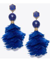 Tory Burch - Feather Drop Earring - Lyst