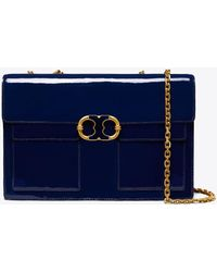 Tory Burch - Gemini Link Patent Large Chain Shoulder Bag - Lyst