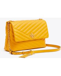 2c485cf7290c Lyst - Tory Burch Fleming Patent Medium Bag in White