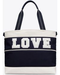 Tory Sport - Tory Burch Canvas Love Tote - Lyst