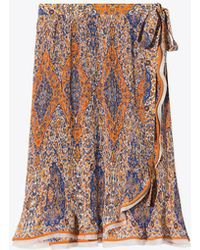 Tory Burch - Quincy Printed Skirt - Lyst