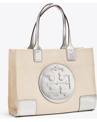 68718fde7b3 Tory Burch Mini Ella Metallic Straw Tote in Metallic - Lyst