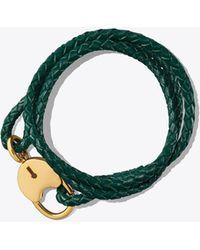 Tory Burch - Braided Triple-wrap Lock Bracelet - Lyst