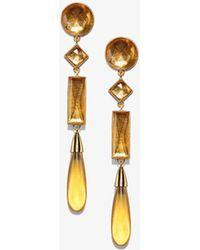 Tory Burch - Embellished Linear Earring - Lyst